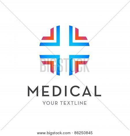 vector medical logo - cross isolated