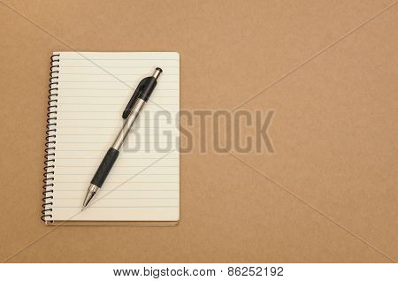 Note book with pen for your message
