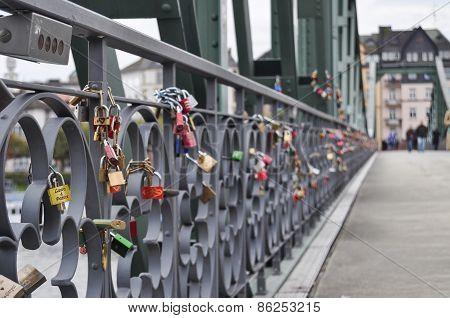 Padlocks On A Bridge