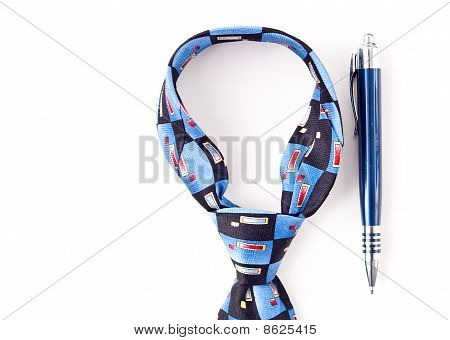 Neck Tie Dress Accessory With Pen