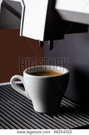 Close-up Of A Cup Of Black Coffee