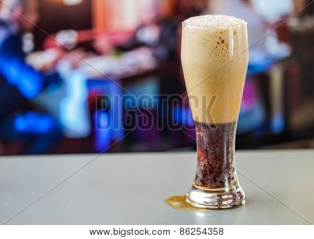 Full Glass Of Dark Beer