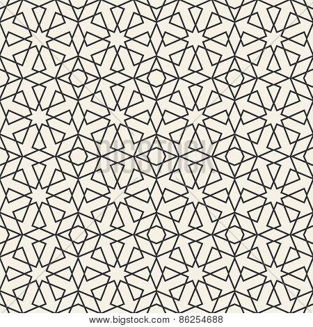 Abstract Seamless Geometric Islamic Wallpaper Pattern