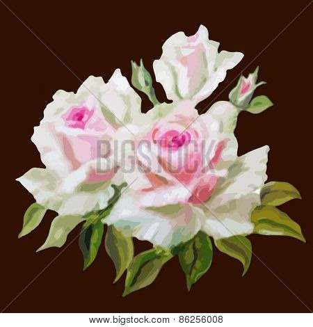 Decorative floral background with flowers of rose