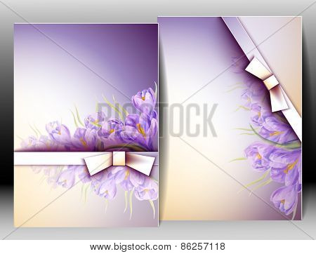Spring flowers invitation template card. Easter, wedding, marriage, bridal, birthday, Valentine's day. International women's day.
