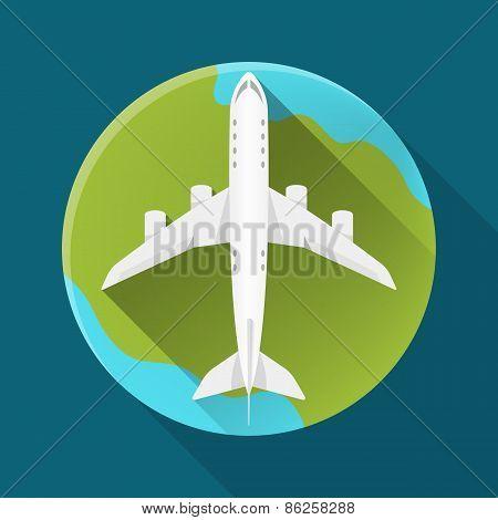 Vector Icon Flat Plane