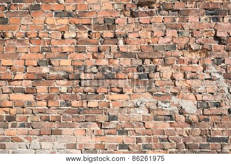 Old brick wall as abstract background