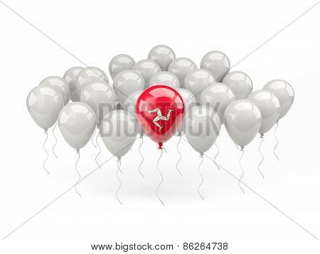 Air Balloons With Flag Of Isle Of Man