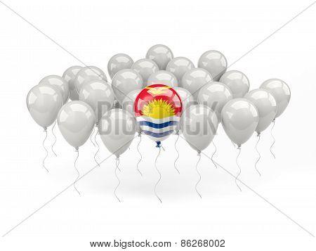 Air Balloons With Flag Of Kiribati