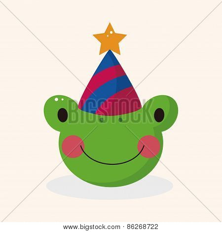 Animal Frog Cartoon Theme Elements