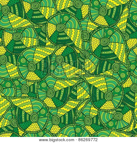 Abstract Green  Background. Seamless Pattern.