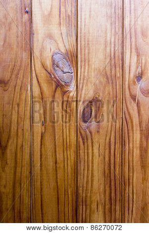 Wooden Background With Knots