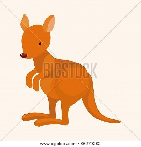 Animal Kangeroo Cartoon Theme Elements