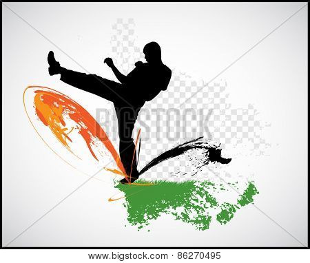 Warrior. Karate illustration. Vector