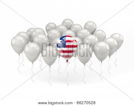 Air Balloons With Flag Of Liberia