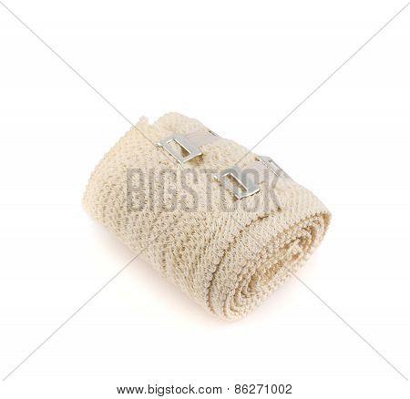 Elastic compression bandage warp