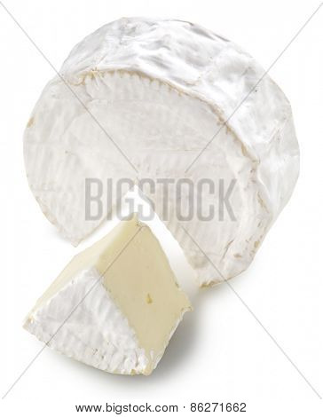 Camembert cheese isolated on a white background. Clipping path.