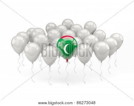 Air Balloons With Flag Of Maldives