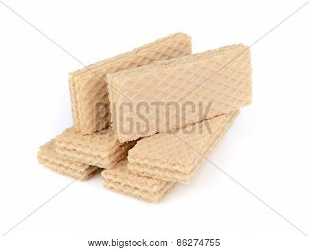 Wafer Cream Isolated On White Background