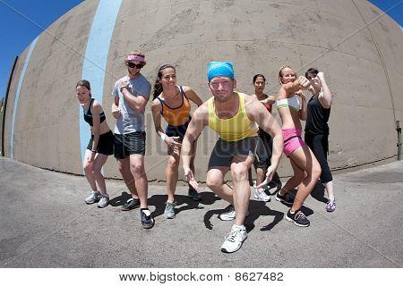 Athletes Posing