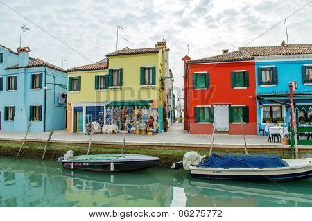 Burano, Italy - Mar 20 -  On Mars 20, 2015 In Burano, Italy.