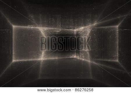 Abstract Shining Pattern Over Dark Concrete Wall Texture