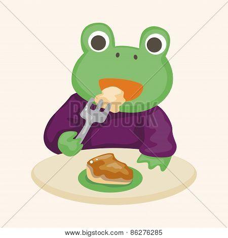 Animal Having Afternoon Tea Theme Elements