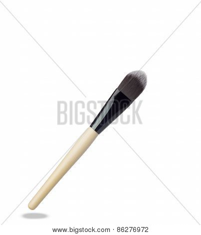 Make up brush isolated on white