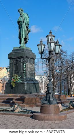 Monument to Russian poet Alexander Pushkin