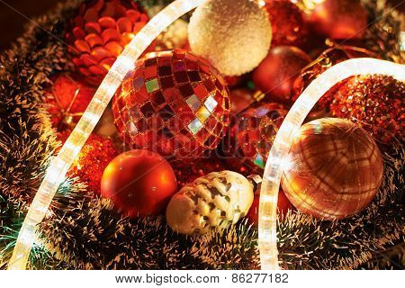 Seasonal Christmas decoration background