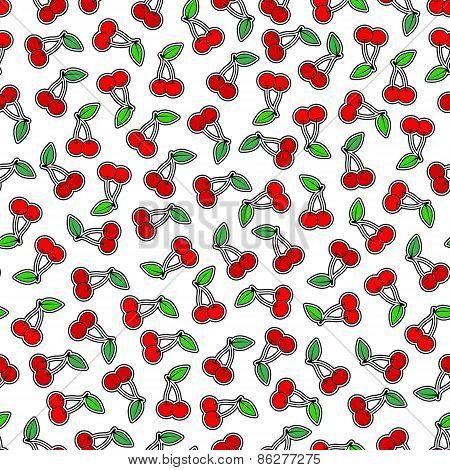 Cherries Seamless Background