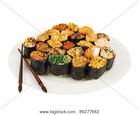 Sushi in a plate