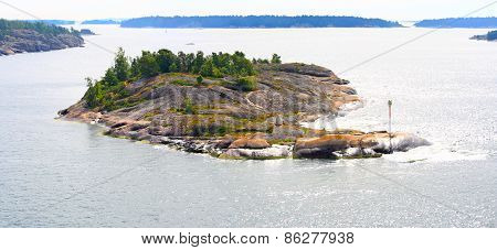 Aland Islands Archipelago In Summer.