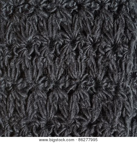 Knitted black cloth