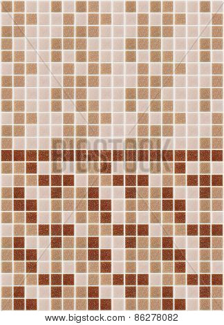 Mosaic Marble Tiles Pink Red Square