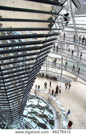 High Level Of The Reichstag Building In Berlin