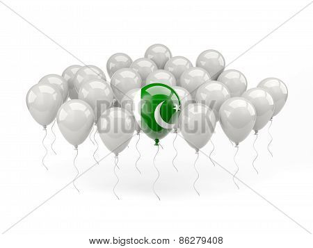 Air Balloons With Flag Of Pakistan