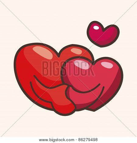 Valentine's Day Love Heart Theme Elements