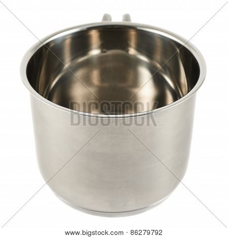 Stainless steel cooking pot isolated