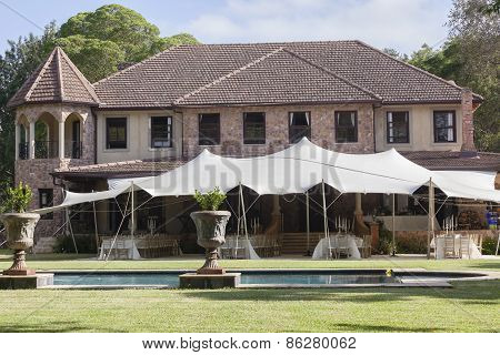 Mansion Home Tent Party Pool