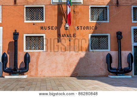 Venice, Italy - Mar 19 - Venice Naval  History Museum  ( Italian : Museo Storico Navale Di Venezia)