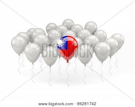 Air Balloons With Flag Of Republic Of China