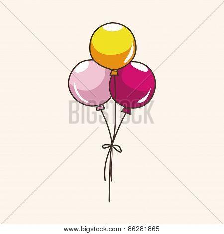 Amusement Park Balloons Theme Elements