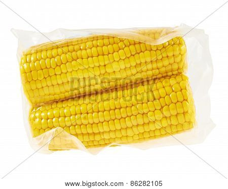 Cornstick corn on the cob in a packaging