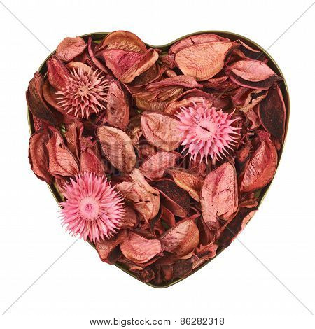 Heart filled with medley potpourri