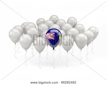 Air Balloons With Flag Of Saint Helena