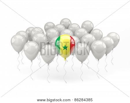 Air Balloons With Flag Of Senegal