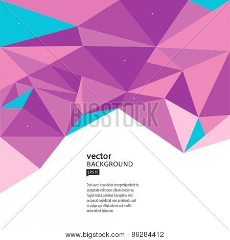 Vector abstract geometric colorful background. AI EPS 10