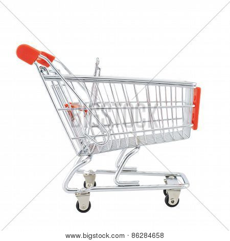 Small shopping cart isolated
