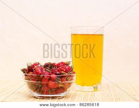 Dry Hips  And Rosehip Tea.  Focus On Hips, Shallow Dof.
